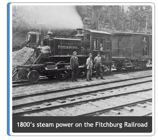 1800's steam power on the Fitchburg Railroad